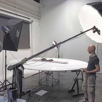 Fischer Ski set up a 3D photo studio